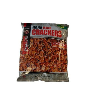 Umeya Hana Rice Crackers, Toasted, 15 oz, (Pack of 4)