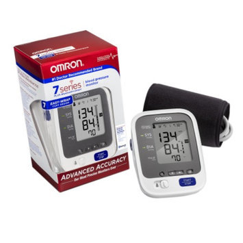 Omron 7 Series Upper Arm Blood Pressure Monitor plus Bluetooth Smart, Model BP761, Cuff that fits Standard and Large Arms, 1 ea