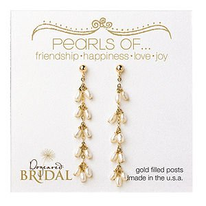 Dogeared Bridal Dangling Pearl Earrings