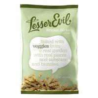 LesserEvil Veggie Krinkle Sticks, 4.5-Ounce Bags (Pack of 12)