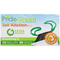 Pridegreen Recycled Drawstring Bag, 13 Gallon, 30 Count (Pack of 2)