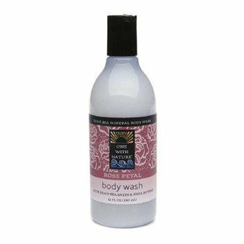One With Nature Dead Sea Body Wash Rose 12 oz
