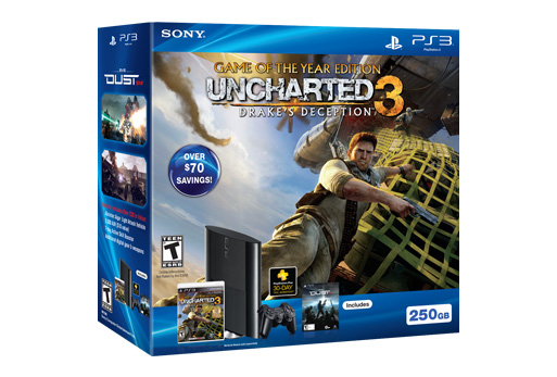 PlayStation 3 250GB Uncharted 3 Game of the Year Bundle