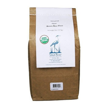 Tropical Traditions Organic Stone-Ground Brown Rice Flour - 5 lb. bag