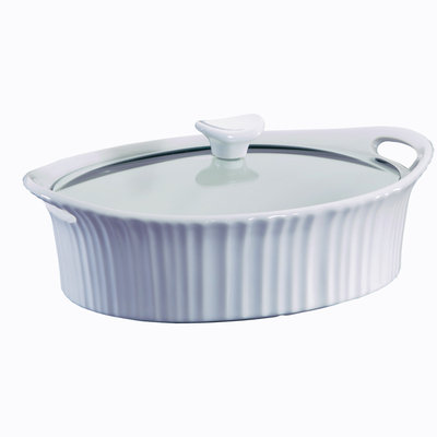 Corningware CorningWare French White III 2½-qt. Covered Oval Casserole