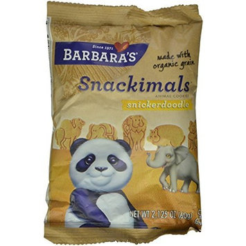 Barbara's Bakery Barbara's Snackimals Cookies, Snickerdoodle, 2.125 Ounce (Pack of 18)