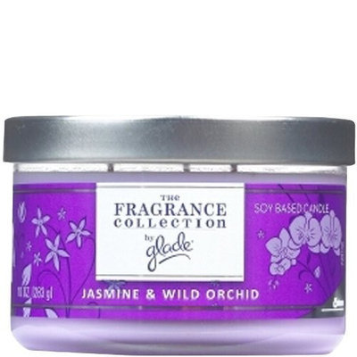 The Fragrance Collection by Glade Multi-Wick Candle, Jasime & Wild Orchid 10 oz (283 g)