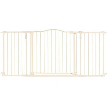 North States Industries North States Deluxe Décor Extra Wide Safety Gate - Linen