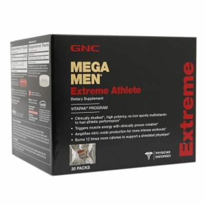 GNC Mega Men Extreme Athlete Vitapak, Packs, 30 ea