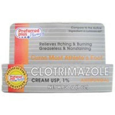 Clotrimazole Antifungal Cream 1% - 1 Oz