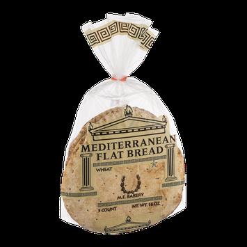M.E. Bakery Mediterranean Flat Bread Wheat