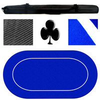 Trademark Commerce 10-1257 Poker Texas Holdem Table Layout Rubber Foam 70 Inch