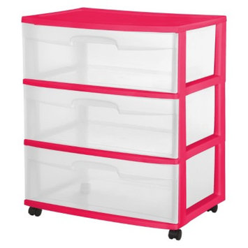 cart: Storage Carts Plastic Room Essentials Pink