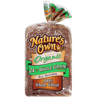 Nature's Own: All Natural 100% Whole Wheat Bread, 24 Oz