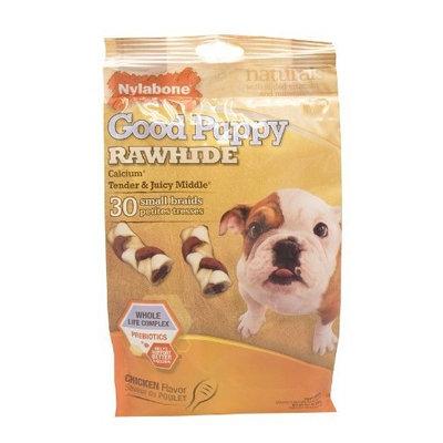 Nylabone Rawhide Chicken Flavored Braid Puppy Dog Treat Bone