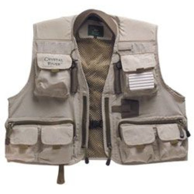 Crystal River Deluxe Fishing Vest (Brown, Large)