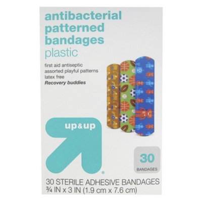 up & up up&up Antibacterial Recovery Buddies Patterned Bandages - 30 Count