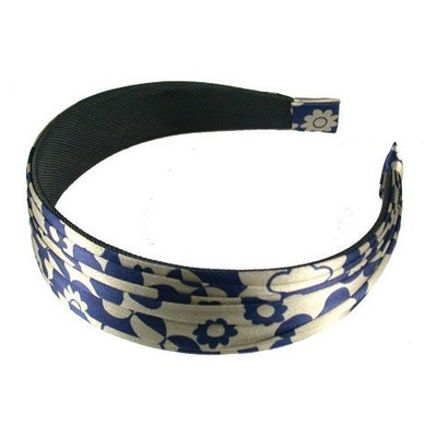 Smoothies Pleated Headband-Navy/Gray 01210
