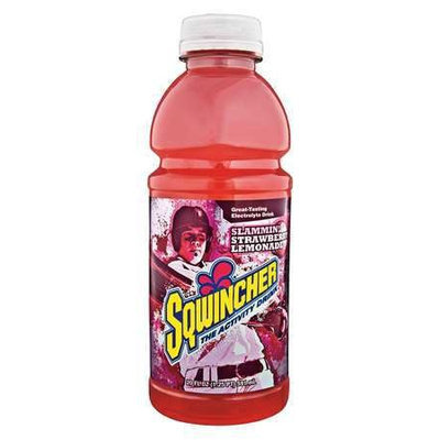 SQWINCHER 030536-SL Sports Drink,20 oz, Strawberry Lmnde, PK24