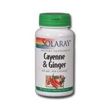 Solaray  Cayenne & Ginger 465mg - 100 - Capsule [Health and Beauty]