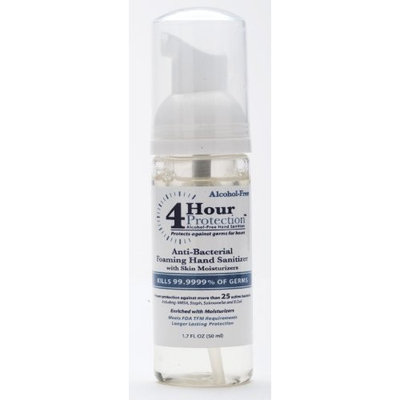 4 Hour Protection Moisturizing Hand Sanitizer Foam , Pump, 1.7-Ounce (Pack of 2)