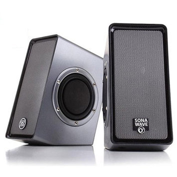 Accessory Power GOgroove SonaVERSE O2 Computer Speaker System with Universal USB Power, Passive Subwoofers and Built-in Volume Control for Laptop and Desktop Computers
