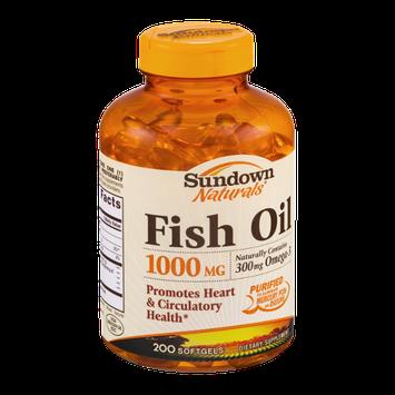 Sundown Naturals Dietary Supplement Fish Oil 1000mg - 200 CT