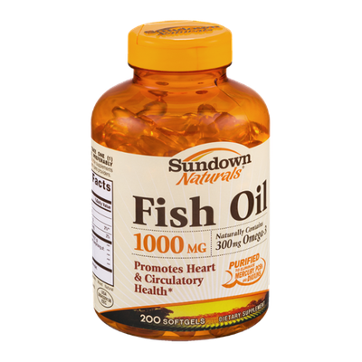 Sundown Naturals Dietary Supplement Fish Oil 1000mg - 200 CT