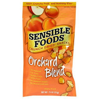 Sensible Foods Crunch Dried Snacks, Orchard Blend, 0.75-Ounce Pouches (Pack of 12)