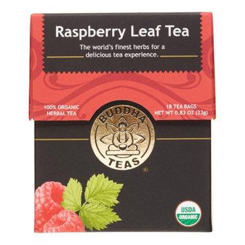 Buddha Teas Raspberry Leaf 100 Percent Organic Herbal Tea 18 Bags Per Packet
