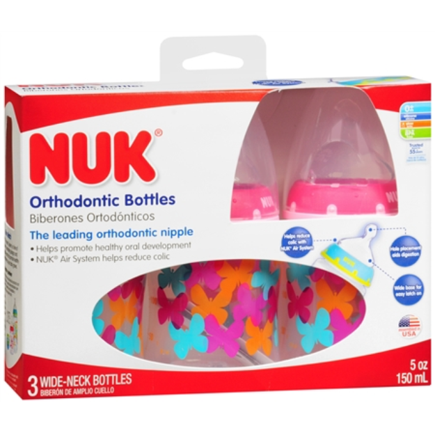 NUK Trendline Bottles with Silicone Spout