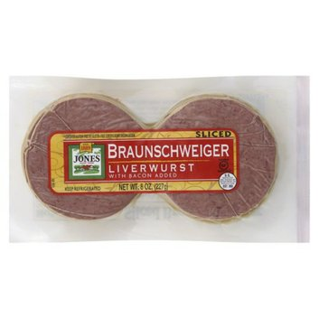 Jones Sliced Liver Sausage 8 oz