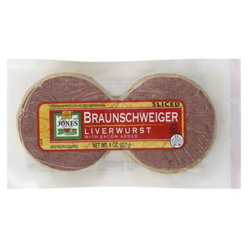 Jones Sliced Liver Sausage 8 oz