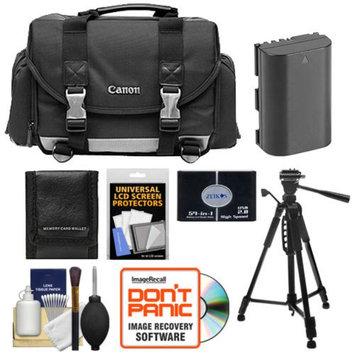 Canon 200DG Digital SLR Camera Case Gadget Bag + LP-E6 Battery + Tripod + Accessory Kit for EOS 6D, 7D, 60D, 5D Mark II, III