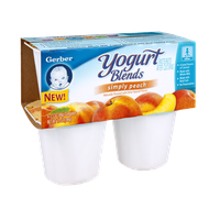 Gerber Simply Peach Yogurt Blends - 4CT