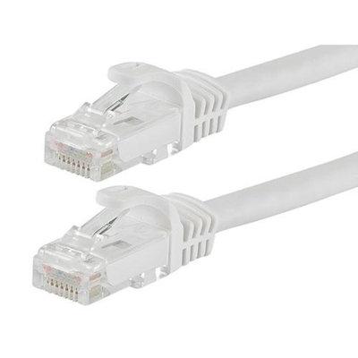 Monoprice 1FT FLEXboot Series 24AWG Cat6 550MHz UTP Bare Copper Ethernet Network Cable - White