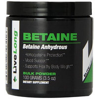 LiveLong Nutrition Betaine Supplements, 3.5 Ounce