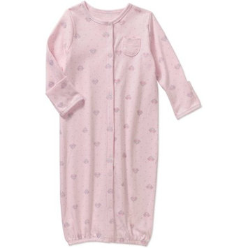 Stargate Apparel Quiltex Girls Pink Polka Dot and Crown Print Convertible Coverall