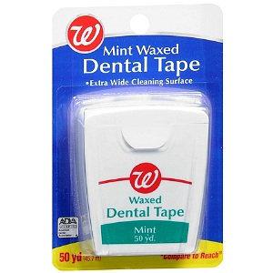 Walgreens Mint Waxed Dental Tape