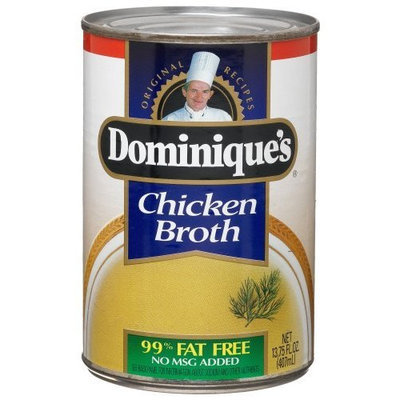 Dominique's Chicken Broth, 13.75-Ounce Cans (Pack of 12)