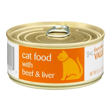 Guaranteed Value Cat Food with Beef & Liver