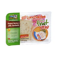 Lunchables Oscar Mayer Peanut Butter + Jelly Sandwich with Fruit Lunch Combinations