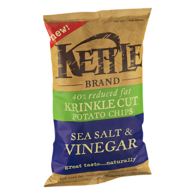 Kettle 40% Reduced Fat Sea Salt & Vinegar Potato Chips