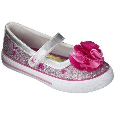 Toddler Girl's Barbie Sneaker - Silver 1