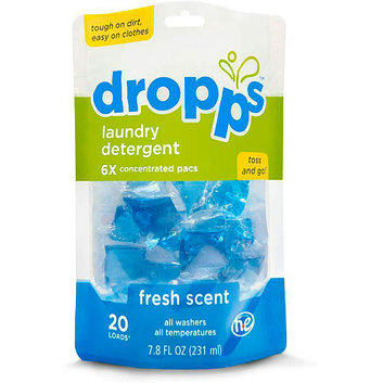 Dropps Sensitive Skin Laundry Detergent Pacs, Fresh Scent