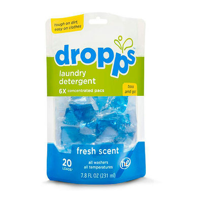 Dropps Sensitive Skin Laundry Detergent Pacs, Fresh Scent