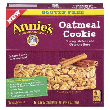 Annie's Homegrown Gluten Free Oatmeal Cookie Granola Bars 5 ct