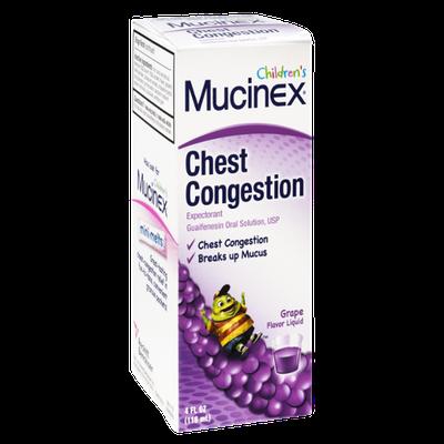 Mucinex Children's Grape Flavor Chest Congestion Liquid