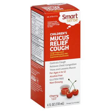 Smart Sense Mucus Relief Cough, Children's, Liquid, Cherry Flavor, 4 oz - KMART CORPORATION