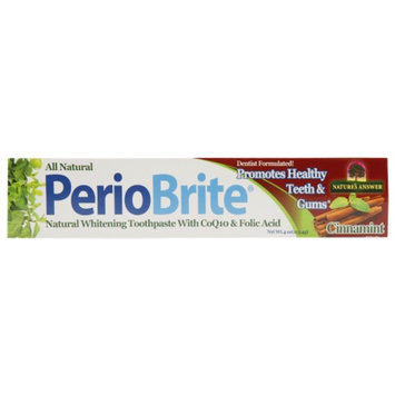Nature's Answer PerioBrite Natural Toothpaste, Cinnamint, 4 oz